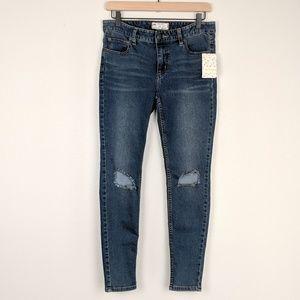 Free People NWT Destroyed Skinny Ankle Jeans Josie